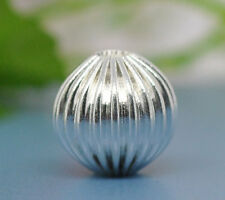 50 Silver Plated Corrugated Round Spacer Beads 10mm