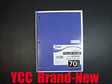 Mead Spiral Notebook,1sub,70sheet,college ruled,slate blue cover,10.5x8in,1pk