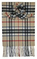 Thompson Camel Tartan 100% Cashmere Scarf - Made by Lochcarron of Scotland