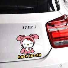 "Hello Kitty ""Baby In Car"" Fun&cute car sticker of   baby girl QP307"