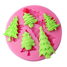 FOUR-C 3D Christmas Tree Silicone Mold Cake Moulds Sugarcraft Decor Cutter Tools