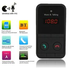 Voiture Kit Bluetooth FM Transmetteur Sans Fil MP3 Allume Cigare Chargeur USB TF