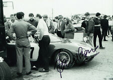 David Piper Hand Signed Ferrari Photo 7x5 1.