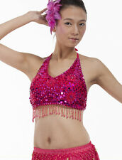 New Belly Dance Costume 5 flower Sequins Top Bra Blouse 11 colors