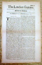 1700 / 1701 newspaper CLEMENT XI is installed as POPE of the CATHOLIC CHURCH