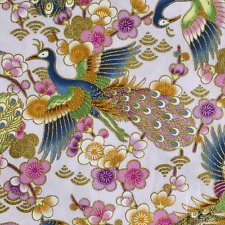 Japanese Peacock cotton fabric craft cotton fat quarter FQ #F0003