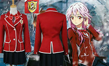 Guilty Crown Inori Yuzuriha High School Cosplay Costume