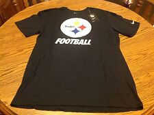 NFL Men's Nike Pittsburgh Steelers Short Sleeve Black T-Shirt Size Large - NWT