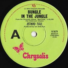 Jethro Tull~Original OZ 45 Bungle in the jungle VG+ 1974 Chrysalis K5679 Prog