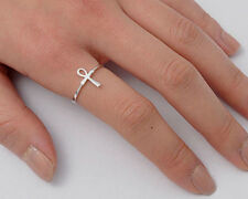Silver Ankh Cross Ring Sterling Silver 925 Best Deal Plain Jewelry Gift Size 3