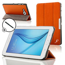 Funda inteligente de cuero plegable de Orange Samsung Galaxy Tab Lite 7.0 Stylus E