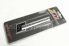 1Pcs Black Aluminum SUPERCHARGED Front Rear Car Logo Emblem Decal Badge Sticker