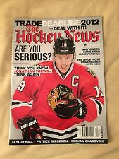 2012 JONATHAN TOEWS Hockey News Magazine CHICAGO BLACKHAWKS 3/5/12