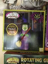 Gemmy Airblown Halloween Inflatable Animated Witch