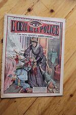 Rarissime L' OEIL DE LA POLICE N° 47 Une Mère Egorge ses quatre Enfants