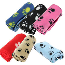 Winter Pet Warm Mat Paw Print Blanket Cozy Puppy Dog Cat Bed Mat Cover New
