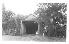 Brandon Vermont Covered Bridge Real Photo Antique Postcard K17267