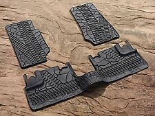 2007 - 2013 Jeep Wrangler Four Door Slush Style Floor Mats, Winter Mats