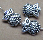 30pc Tibetan Silver 2-Sided Owl Spacer Beads Accessories Jewelry Findings B127P