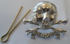 Lancers Cap Badge, 17th, 21st, Or Glory, Metal, Army, Military, Hat, Skull