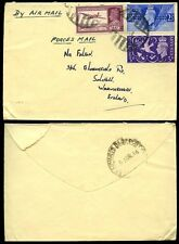 INDIA 1946 MILITARY ARMY POST...GB VICTORY SET + AIRMAIL MIXED FRANKING
