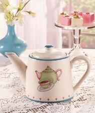 Cookies and Cream 8 cup Ceramic Tea or Coffee Pot  45 oz  NEW