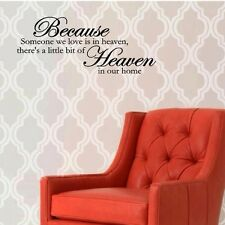 Because someone we love is in heaven Vinyl wall decals quotes sayings #794