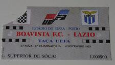 OLD TICKET UEFA Boavista Porto Portugal SS Lazio Roma Italy