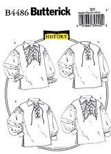 Butterick Pattern B4486 Men's Women's Shirts XL- XXXL Renaissance costume 4486