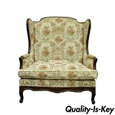 Vintage French Country Louis XV Style Wing Back Settee Love Seat Chair Half Sofa