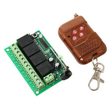 4 channel Relay Module & Remote Control 4CH RF Realy Transmitter & Receiver