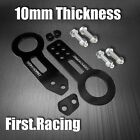 Billet Aluminum Racing Front Rear Tow Hook Kit CNC JDM Anodized Black KONKORD