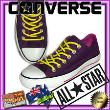 Converse Low Cut Shoes New without box Purple pink glitter size US 6 ALL STARS