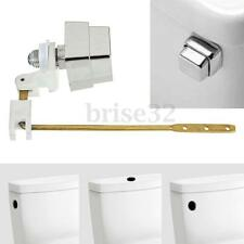 Push Botton Side Mount Toilet Tank Lever Flush Handle Brass Arm Fits Most Toliet
