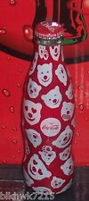 2016 WORLD OF COCA COLA POLAR BEAR FACES 8 OUNCE GLASS  WRAPPED COCA COLA BOTTLE