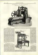 1893 Horizontal Milling Machine Seaman Carving Machine Pullman Morawa Bridge