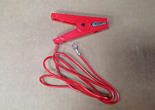 CROCODILE CLIP FENCE LIVE CONNECTION CABLE Electric Fencing Fence Energiser Red