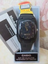 CASIO FLIP TOP CON CALCOLTRICE NERO BLACK  NUOVO MONTRE WATCH CALCULATOR RARE !