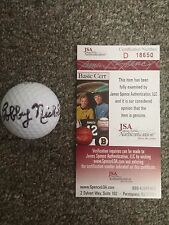 Bobby Nichols Autographed Signed Golf Ball JSA Authentication