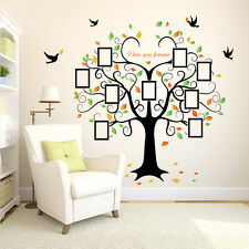 ✯ Family Photo Tree Birds Wall Art Stickers ✯ Vinyl Frame Decal Mural Home Decor