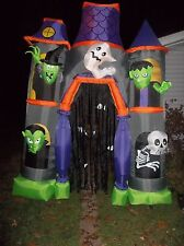 9.5 Ft LIGHTED HAUNTED HOUSE ARCHWAY HALLOWEEN AIRBLOWN INFLATABLE YARD Gemmy