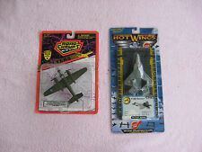 Lot Of 2 Road Champs Flyers B-25 & Hot Wings F-22 Raptor Airplanes~New & Sealed!