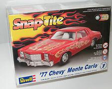 '77 CHEVY Monte Carlo model car kit Revell 1/24 scale sealed box Snap Tite 1977