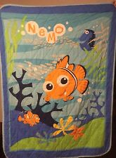 VINTAGE DISNEY PIXAR FINDING NEMO DORY CRIB TODDLER BED QUILT BLANKET SHEET Set