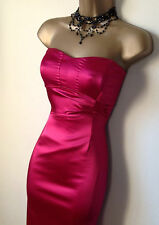 coast hot pink wiggle dress sz 16 Vgc straps inc