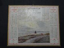 Calendrier Almanach 1936 Berger Marne calendar France Post calendario Kalender