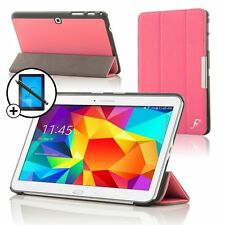 Leather Pink Smart Case for Samsung Galaxy Tab PRO 10.1 + Screen Prot & Stylus