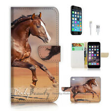 iPhone 6 6S (4.7') Flip Wallet Case Cover P2888 Horse