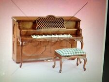 "DOLLHOUSE MINIATURE ""I Love Lucy"" Piano & Stool - BESPAQ Adult Collectible"