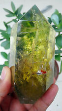 Top!396g!Large Nature Citrine Yellow Crystal Quartz Gemstone Point Healing-A025